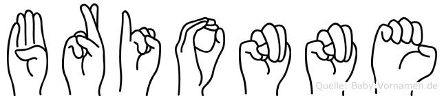 Brionne in Fingersprache für Gehörlose
