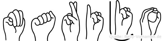 Marijo in Fingersprache für Gehörlose