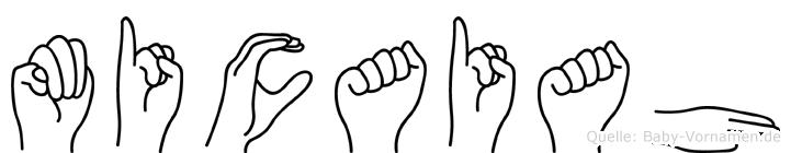 Micaiah in Fingersprache für Gehörlose