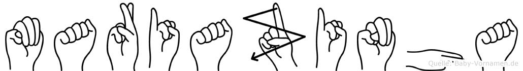 Mariazinha in Fingersprache für Gehörlose