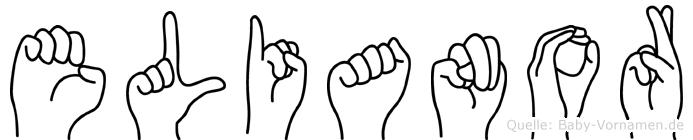 Elianor in Fingersprache für Gehörlose
