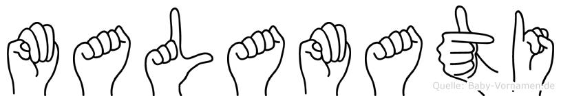 Malamati in Fingersprache für Gehörlose
