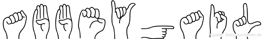 Abbeygail in Fingersprache für Gehörlose