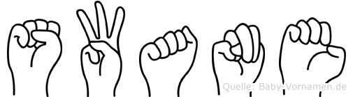 Swane in Fingersprache für Gehörlose
