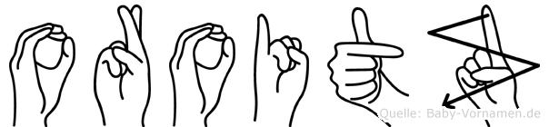 Oroitz in Fingersprache für Gehörlose