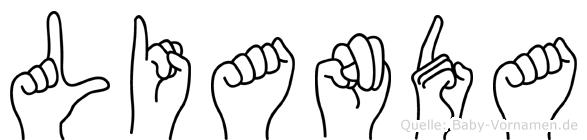 Lianda im Fingeralphabet der Deutschen Gebärdensprache