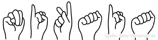 Nikaia in Fingersprache für Gehörlose