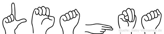 Leahna im Fingeralphabet der Deutschen Gebärdensprache