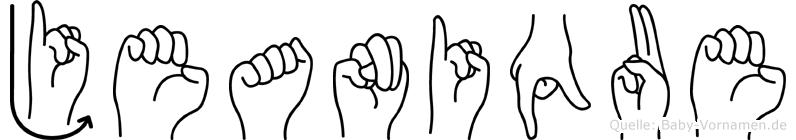 Jeanique im Fingeralphabet der Deutschen Gebärdensprache
