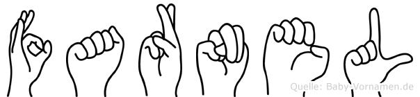 Farnel im Fingeralphabet der Deutschen Gebärdensprache