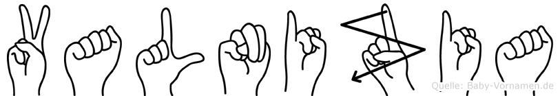 Valnizia in Fingersprache für Gehörlose