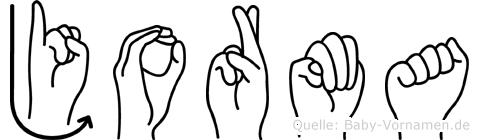Jorma im Fingeralphabet der Deutschen Gebärdensprache