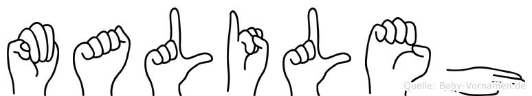 Malileh in Fingersprache für Gehörlose