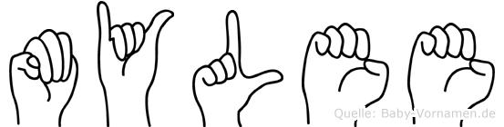 Mylee im Fingeralphabet der Deutschen Gebärdensprache
