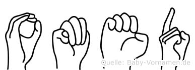 Omed im Fingeralphabet der Deutschen Gebärdensprache