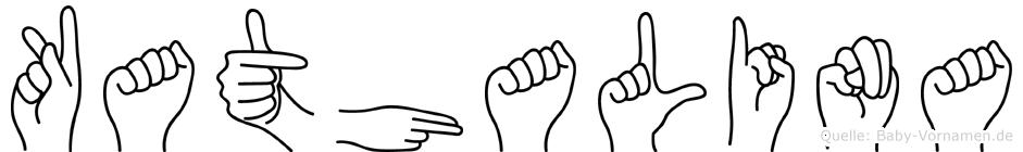 Kathalina im Fingeralphabet der Deutschen Gebärdensprache