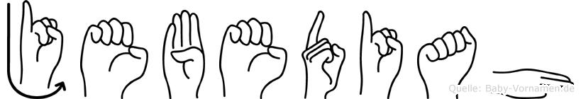 Jebediah in Fingersprache für Gehörlose