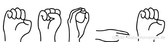 Esohe im Fingeralphabet der Deutschen Gebärdensprache