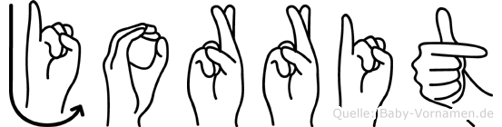Jorrit in Fingersprache für Gehörlose