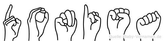 Donisa in Fingersprache für Gehörlose
