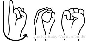 Jos in Fingersprache für Gehörlose