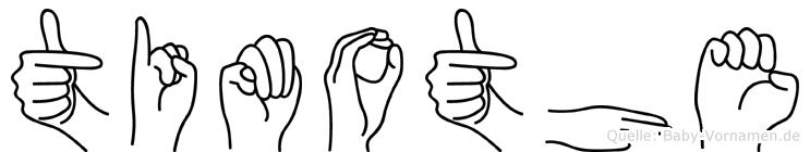 Timothe in Fingersprache für Gehörlose