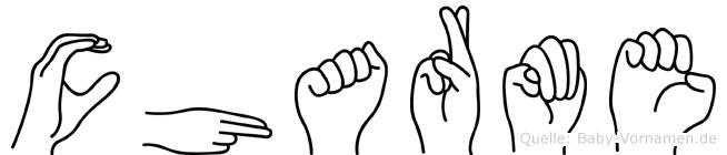 Charme in Fingersprache für Gehörlose
