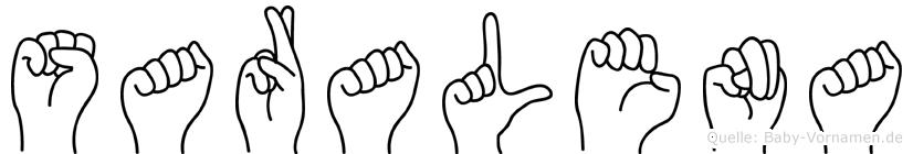 Saralena in Fingersprache für Gehörlose
