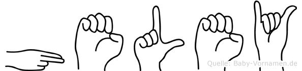 Heley in Fingersprache für Gehörlose