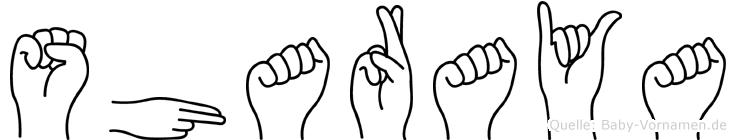 Sharaya im Fingeralphabet der Deutschen Gebärdensprache
