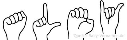 Aley im Fingeralphabet der Deutschen Gebärdensprache