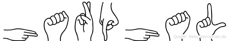Harphal im Fingeralphabet der Deutschen Gebärdensprache