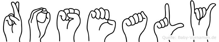 Rosealy in Fingersprache für Gehörlose