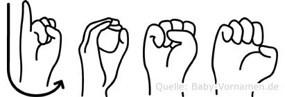 Jose in Fingersprache für Gehörlose