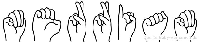 Merriam im Fingeralphabet der Deutschen Gebärdensprache