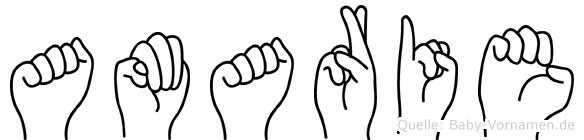 Amarie in Fingersprache für Gehörlose