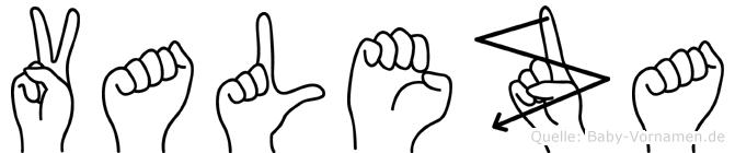 Valeza in Fingersprache für Gehörlose