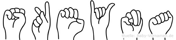 Sükeyna im Fingeralphabet der Deutschen Gebärdensprache