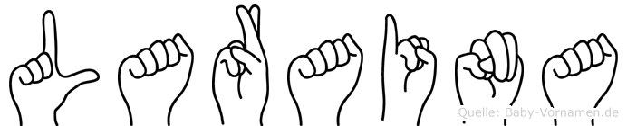 Laraina im Fingeralphabet der Deutschen Gebärdensprache