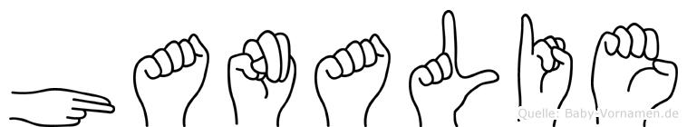 Hanalie in Fingersprache für Gehörlose