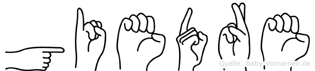 Giedre in Fingersprache für Gehörlose