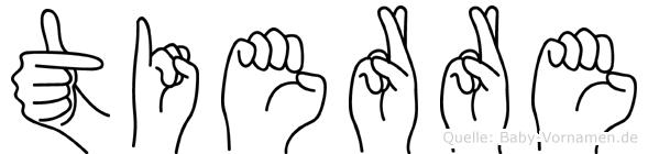 Tierre im Fingeralphabet der Deutschen Gebärdensprache