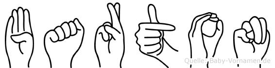 Barton in Fingersprache für Gehörlose