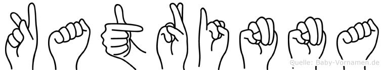 Katrinna im Fingeralphabet der Deutschen Gebärdensprache