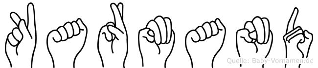 Karmand im Fingeralphabet der Deutschen Gebärdensprache