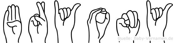 Bryony in Fingersprache für Gehörlose
