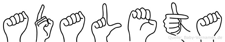 Adaleta in Fingersprache für Gehörlose