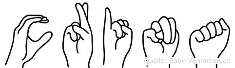 Crina im Fingeralphabet der Deutschen Gebärdensprache
