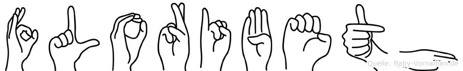 Floribeth im Fingeralphabet der Deutschen Gebärdensprache
