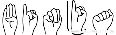 Binja in Fingersprache für Gehörlose